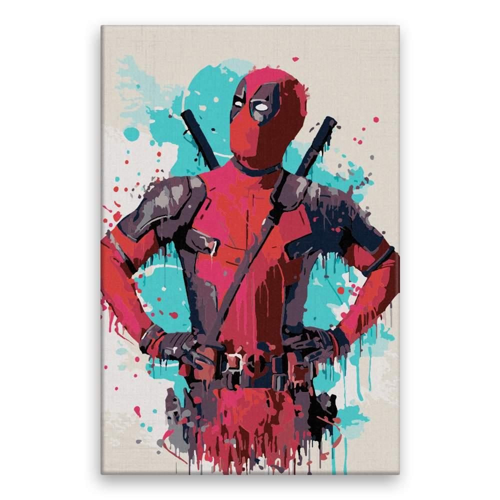Malování podle čísel Deadpool 02