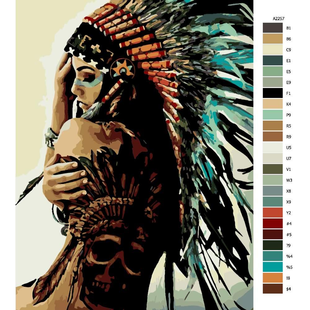 Návod pro malování podle čísel Indigenous Women 03