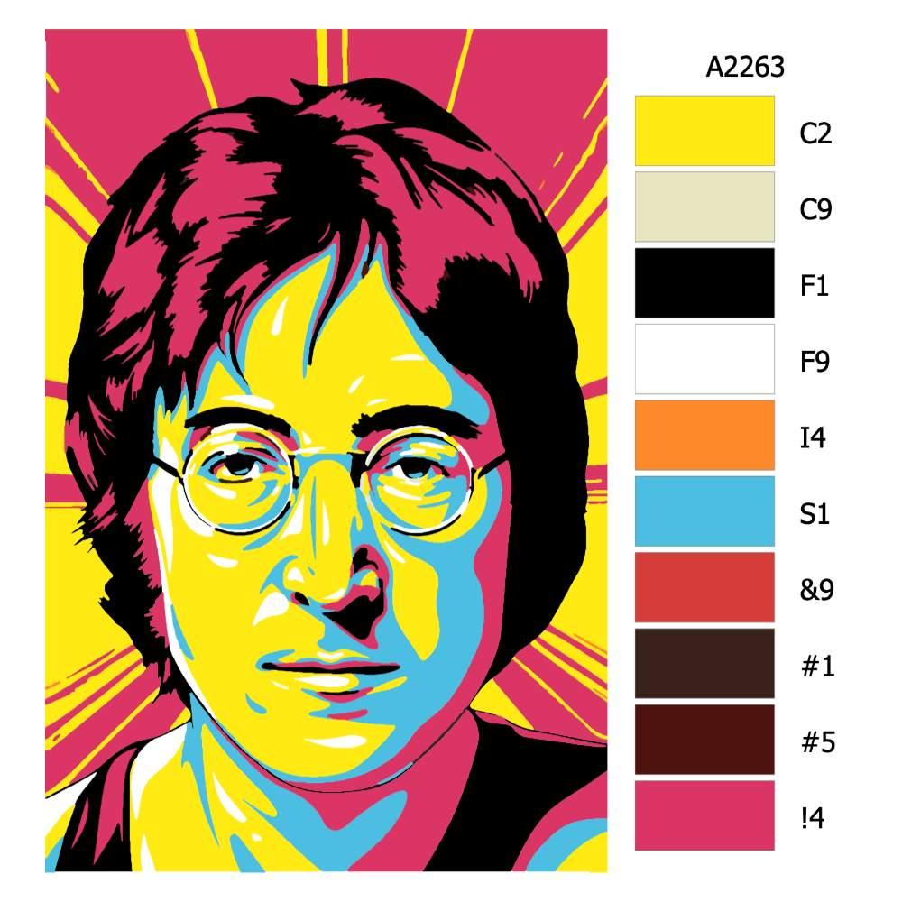 Návod pro malování podle čísel John Lenon 01
