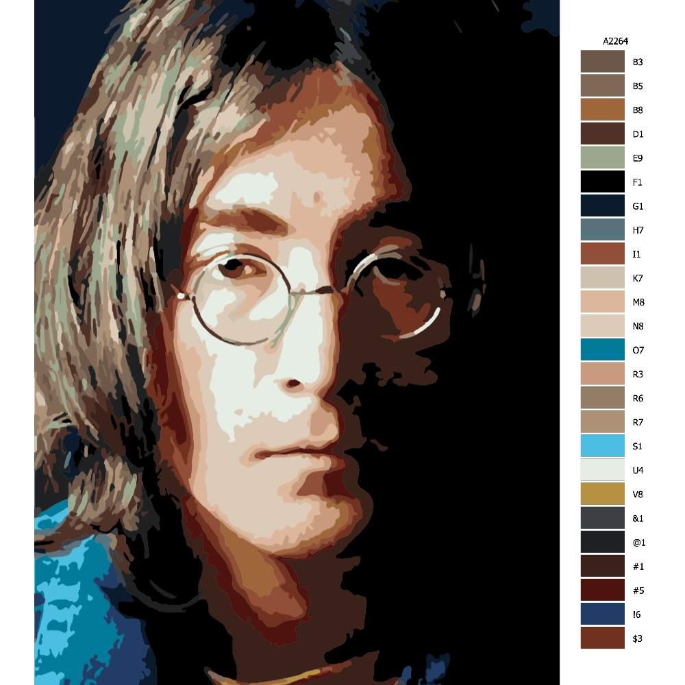 Návod pro malování podle čísel John Lenon 02