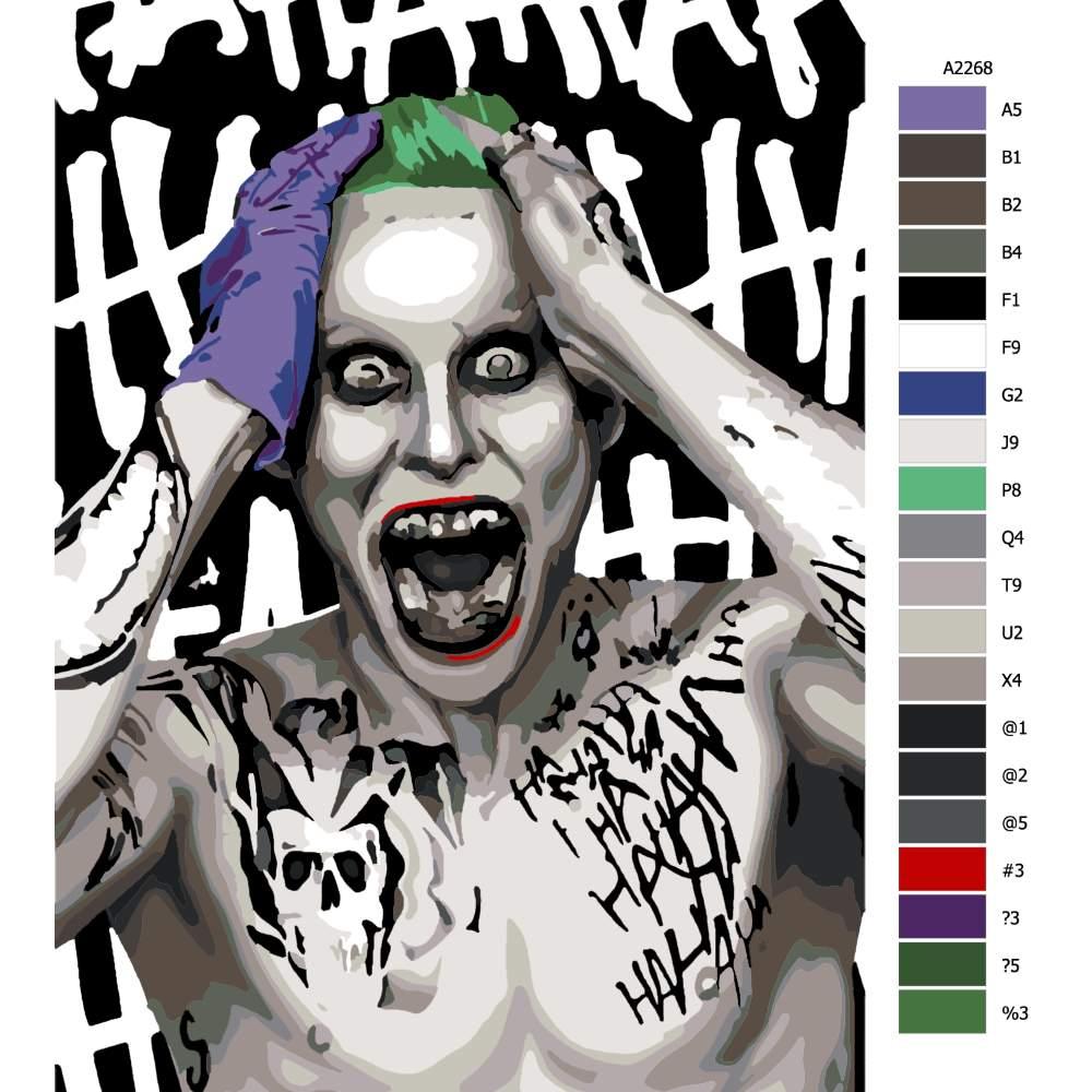 Návod pro malování podle čísel Joker 04