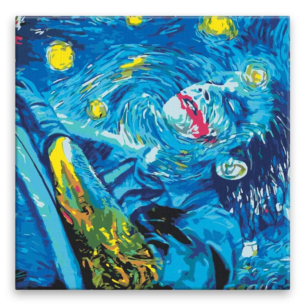 Malování podle čísel Joker a hvězdná noc
