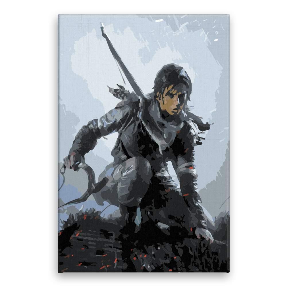 Malování podle čísel Lara Croft 02