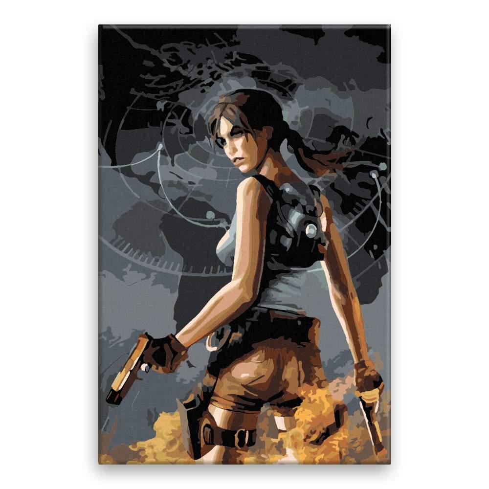 Malování podle čísel Lara Croft 03