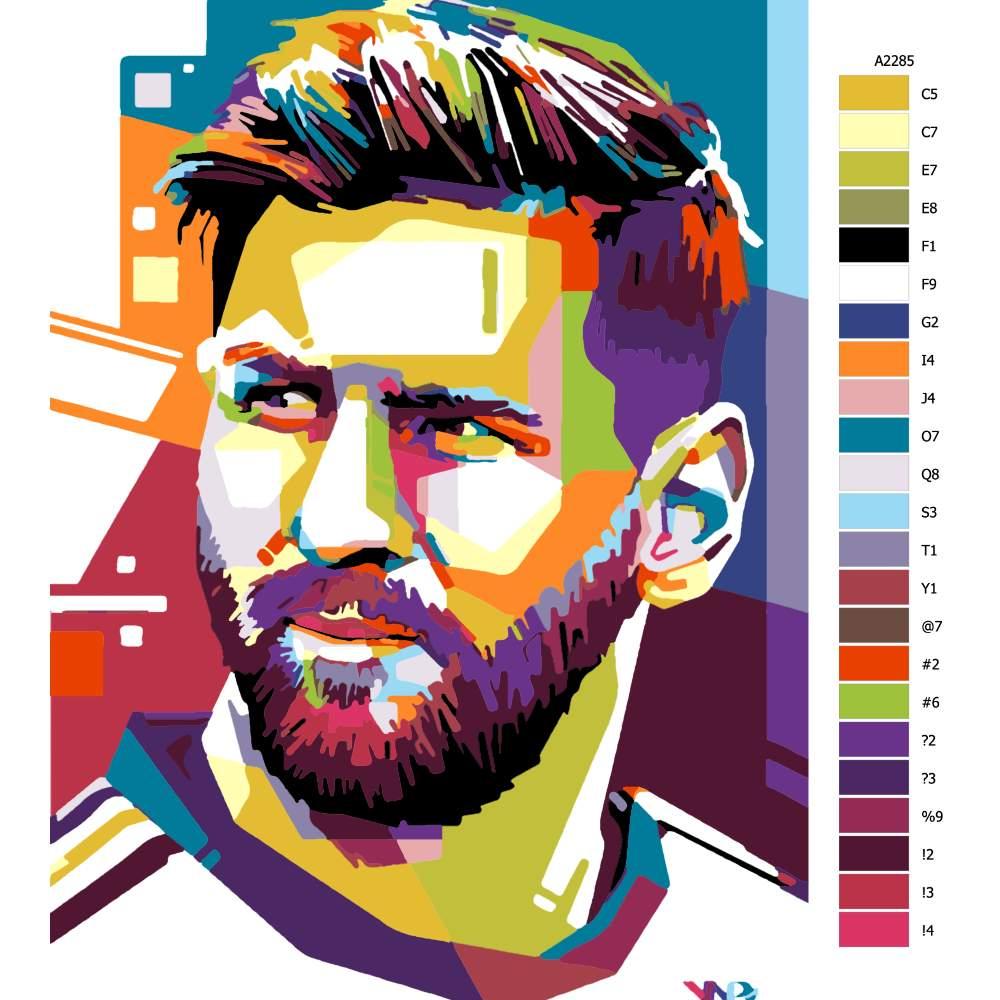 Návod pro malování podle čísel Messi 01
