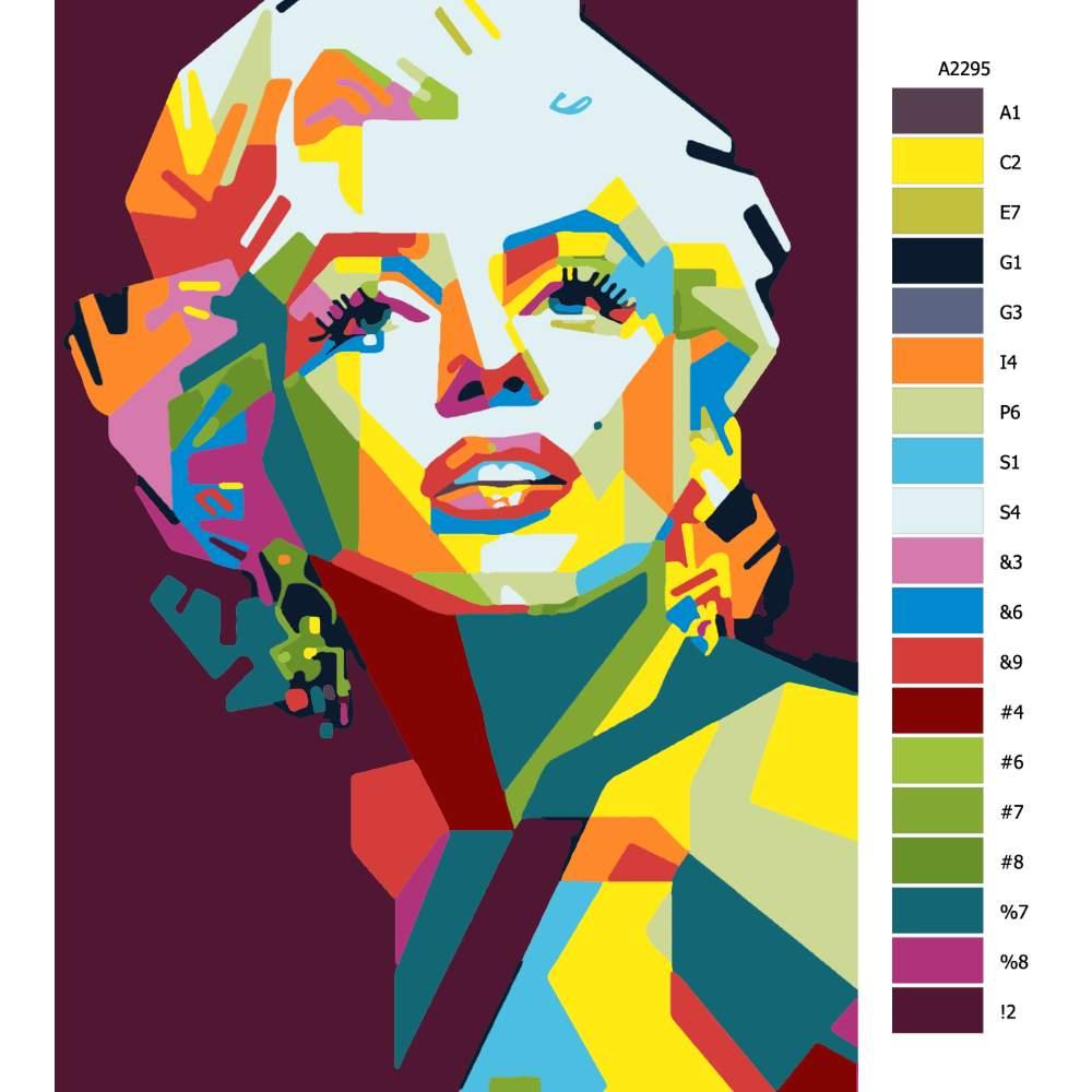 Návod pro malování podle čísel Marilyn Monroe 04