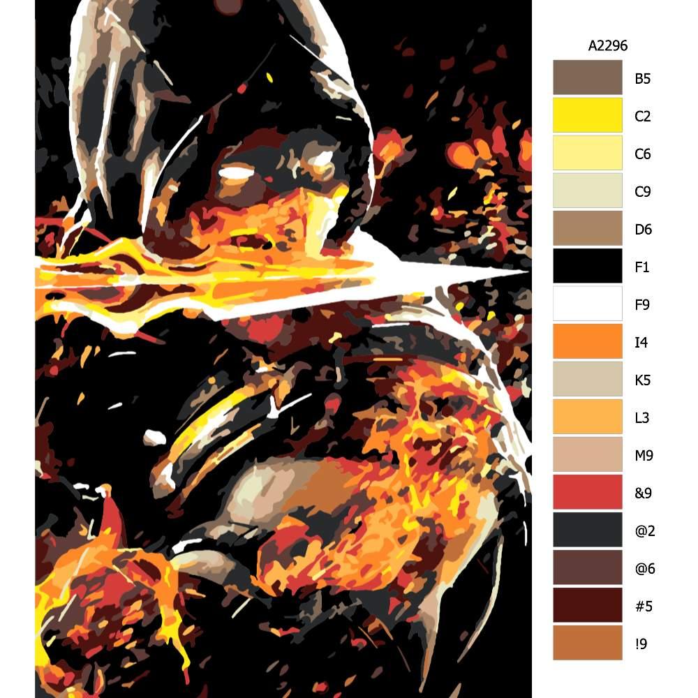 Návod pro malování podle čísel Mortal kombat