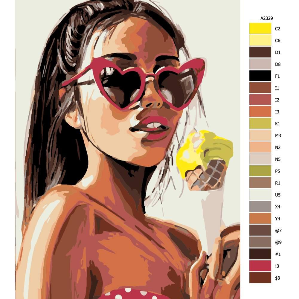 Návod pro malování podle čísel Se zmrzlinou
