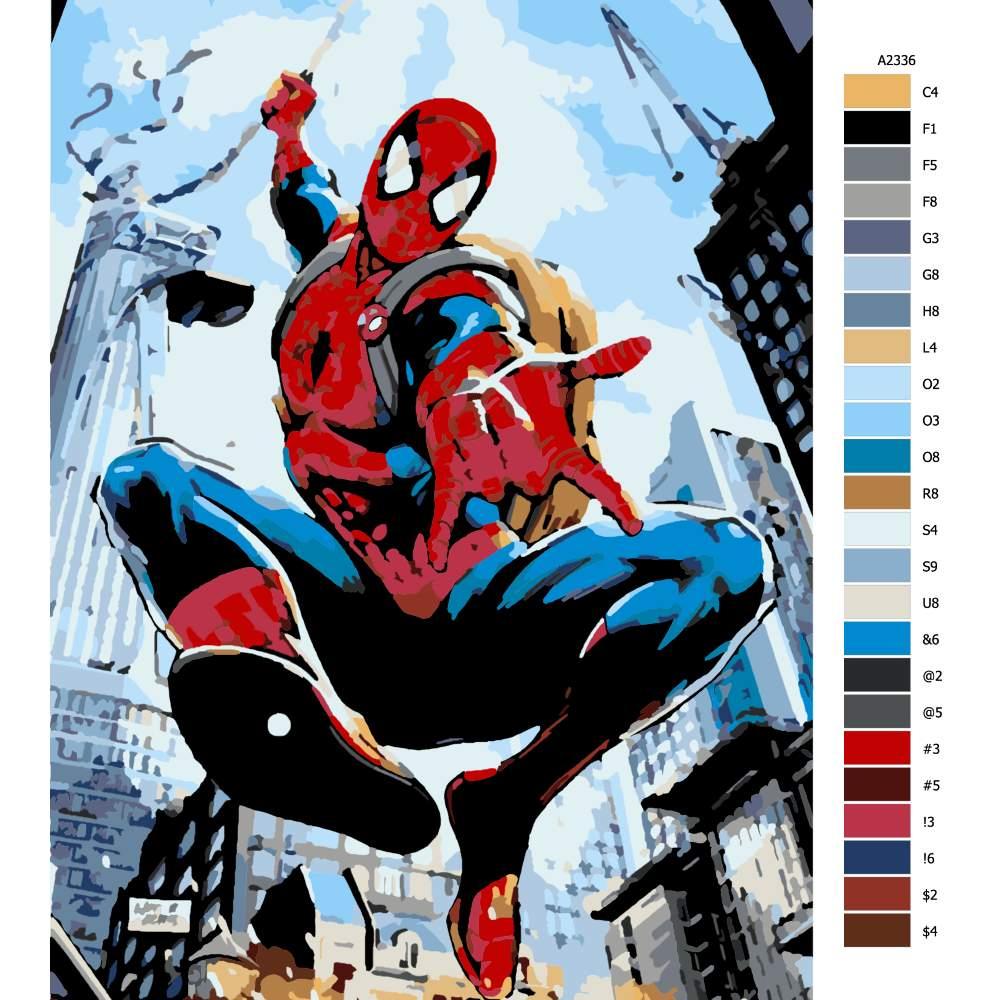 Návod pro malování podle čísel Spiderman 05