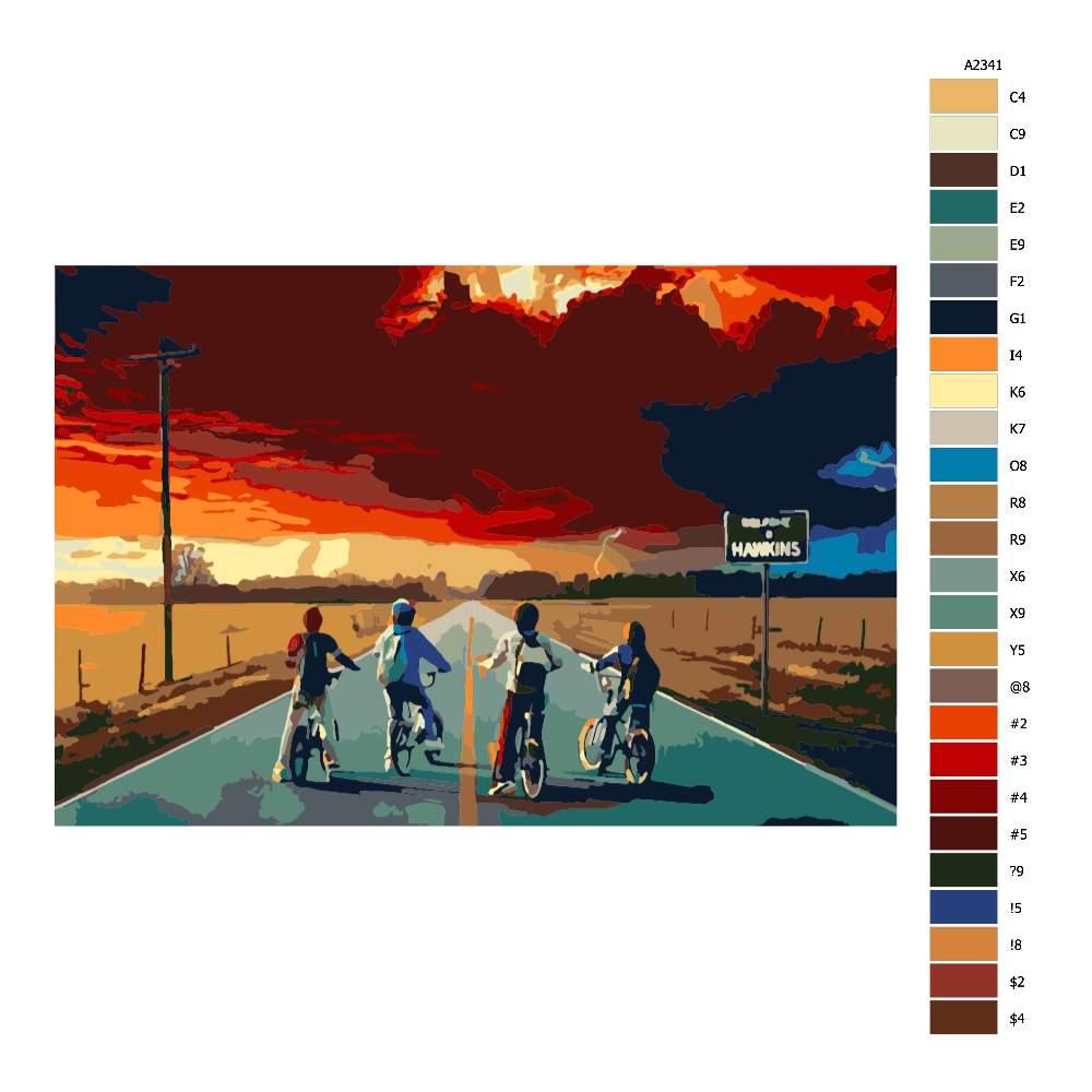 Návod pro malování podle čísel Stranger Things 02