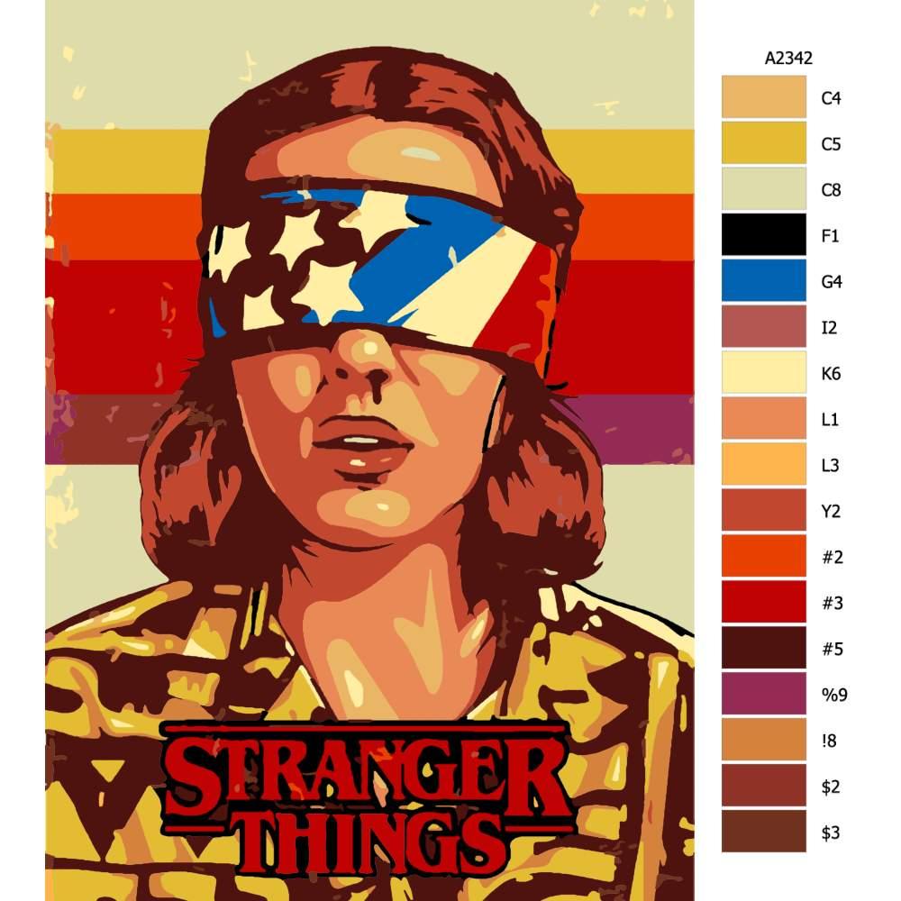 Návod pro malování podle čísel Stranger Things 03