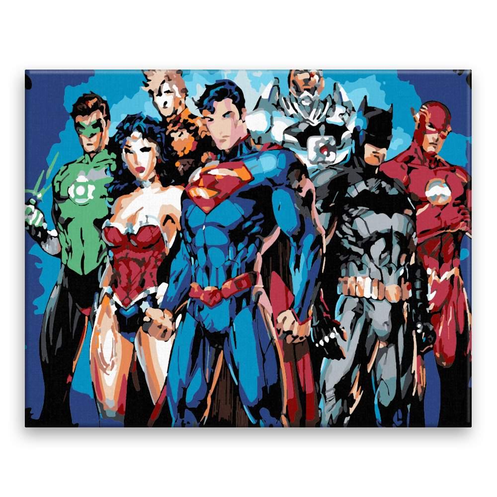 Malování podle čísel Superhrdinové