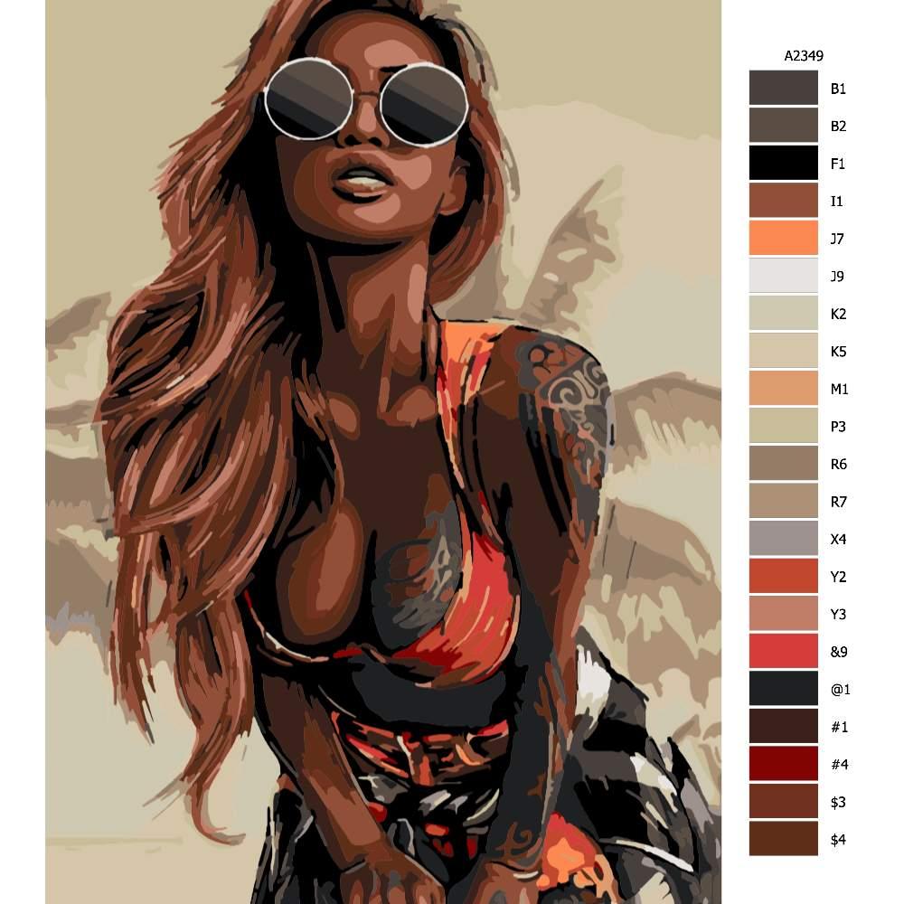 Malování podle čísel Tattoo 04