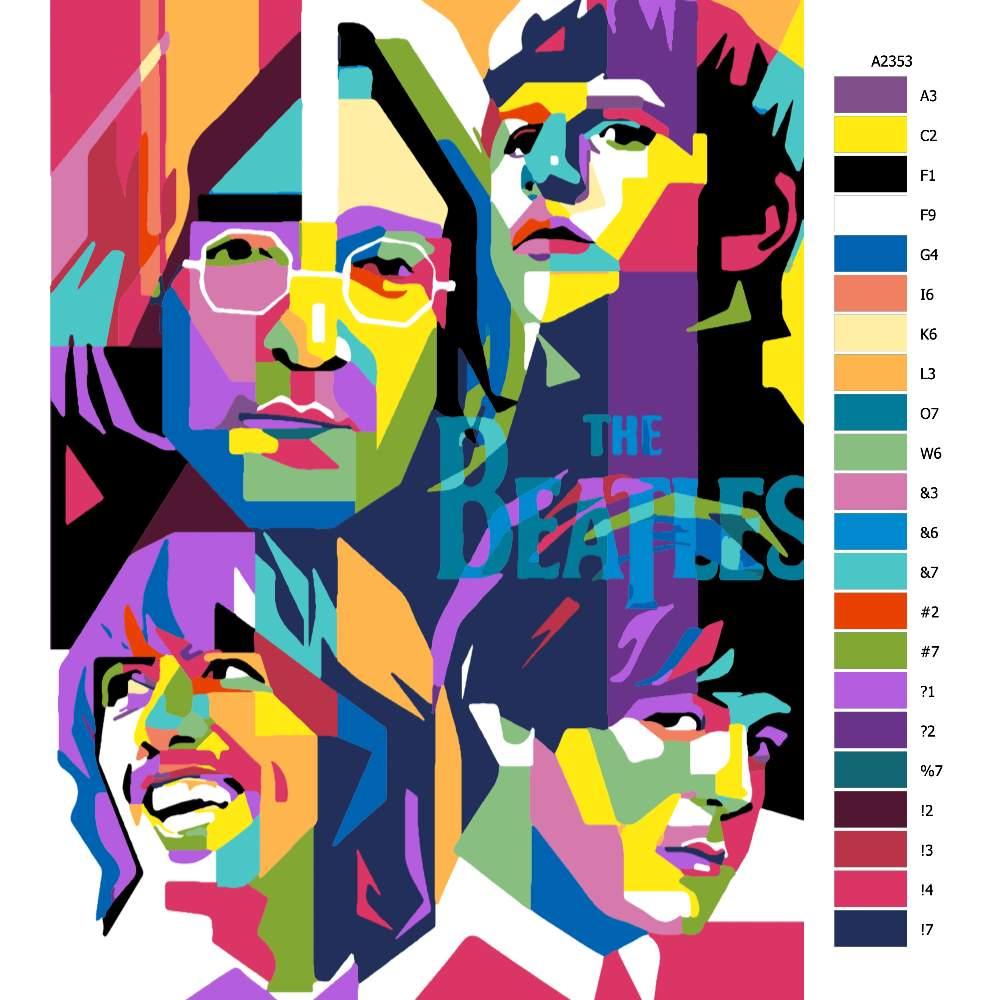 Návod pro malování podle čísel The Beatles