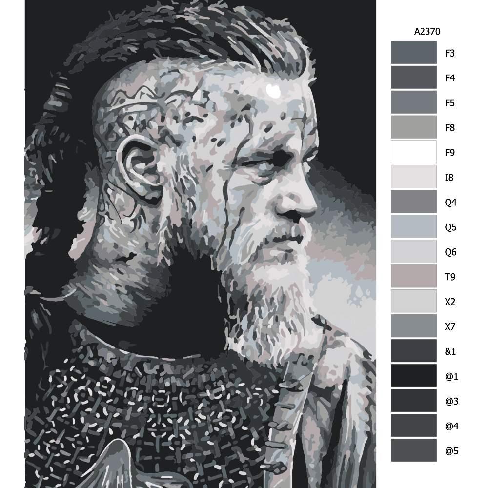 Návod pro malování podle čísel Vikingové 01