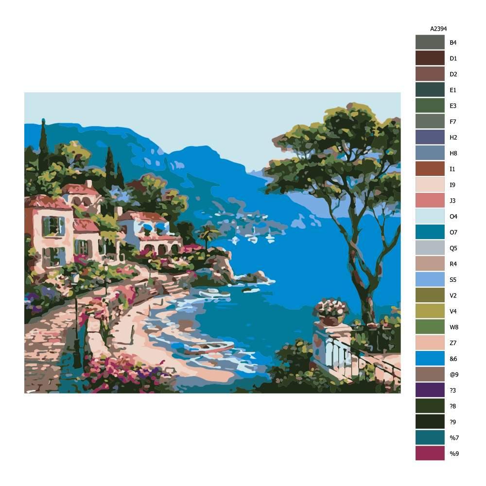 Návod pro malování podle čísel Poklidný záliv