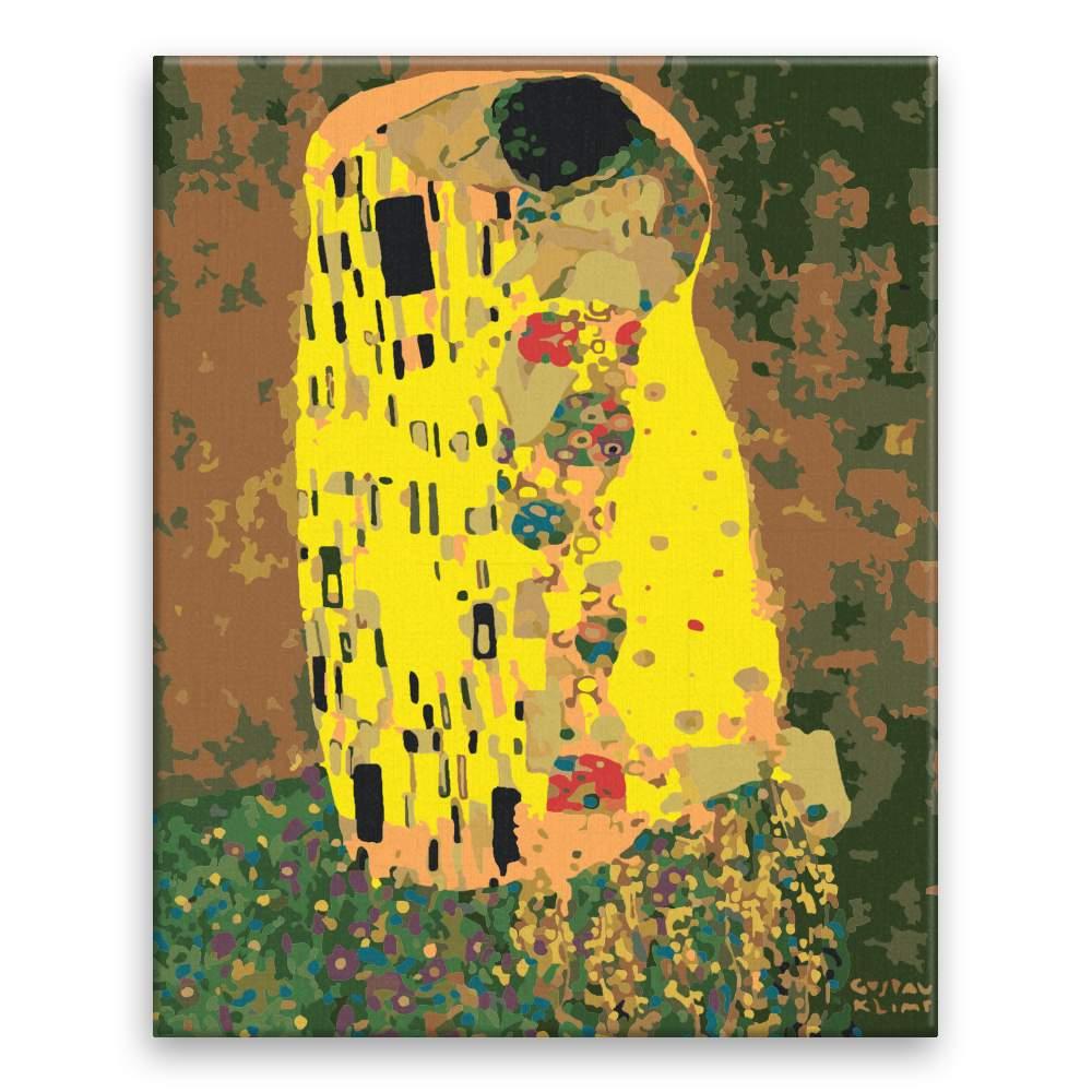 Malování podle čísel Polibek Gustav Klimt